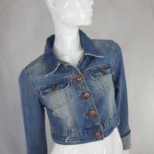 Vintage Old Navy Cropped jean jacket